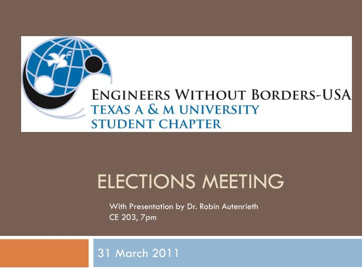 Elections meeting