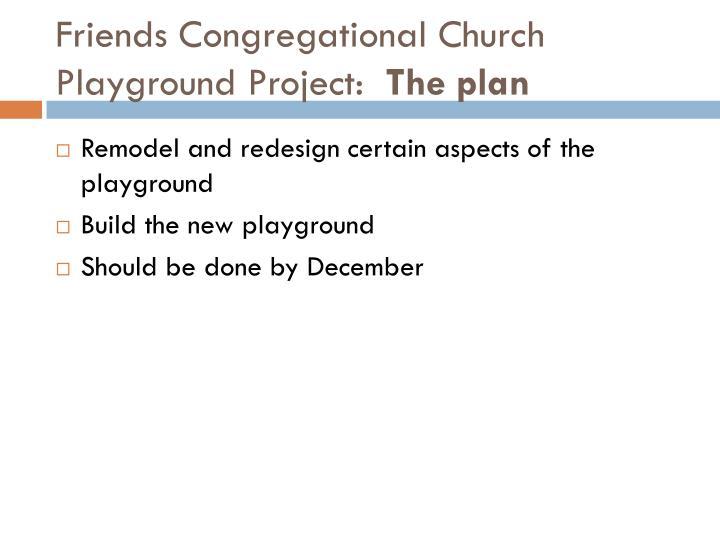Friends Congregational Church Playground