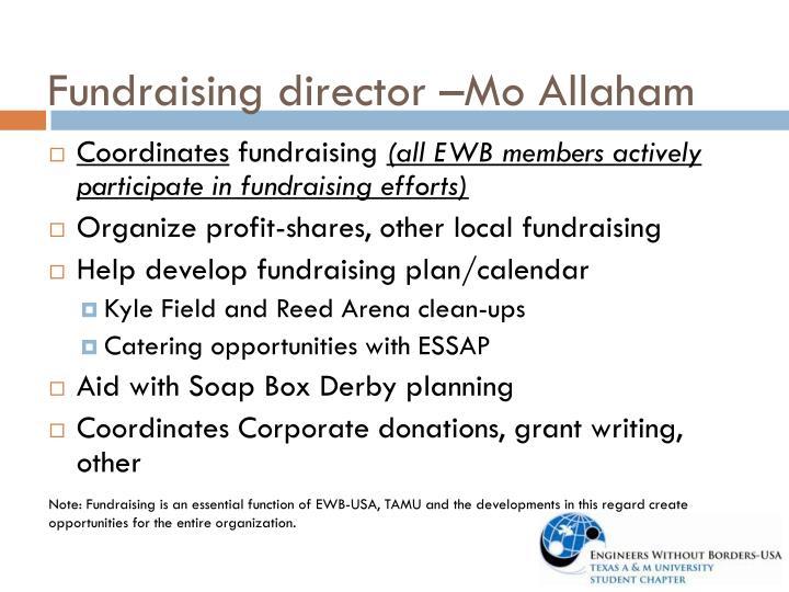 Fundraising director –Mo