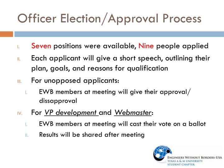 Officer Election/Approval Process