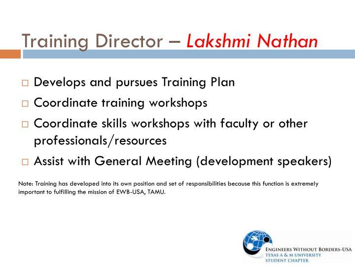 Training Director –
