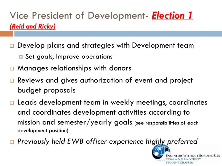 Vice President of Development-