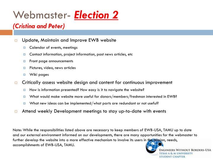 Webmaster-