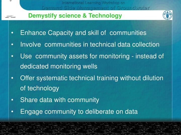 Demystify science & Technology
