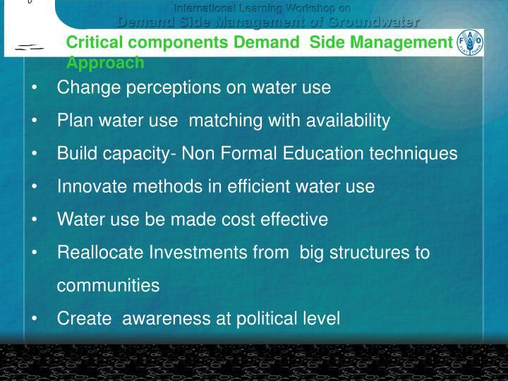 Critical components Demand  Side Management
