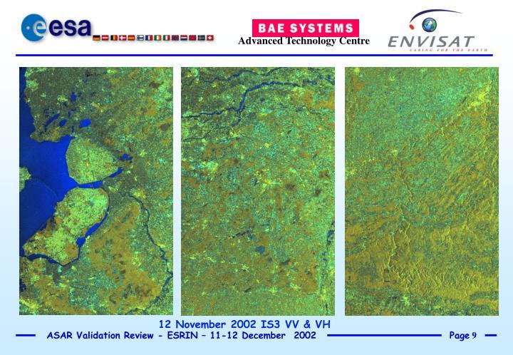 12 November 2002 IS3 VV & VH