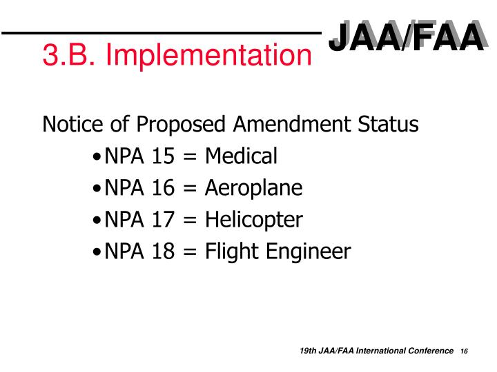 3.B. Implementation