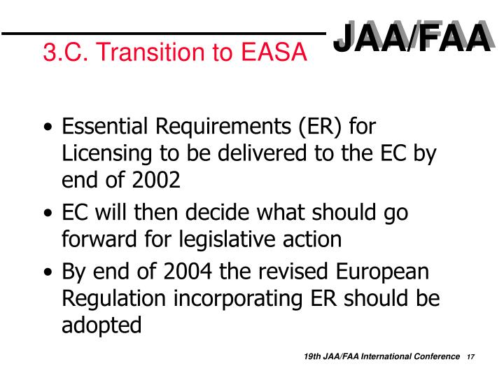 3.C. Transition to EASA