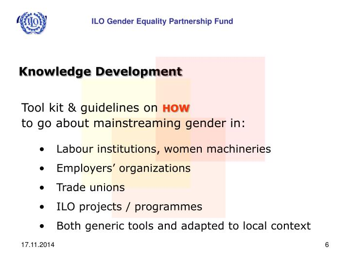 ILO Gender Equality Partnership Fund