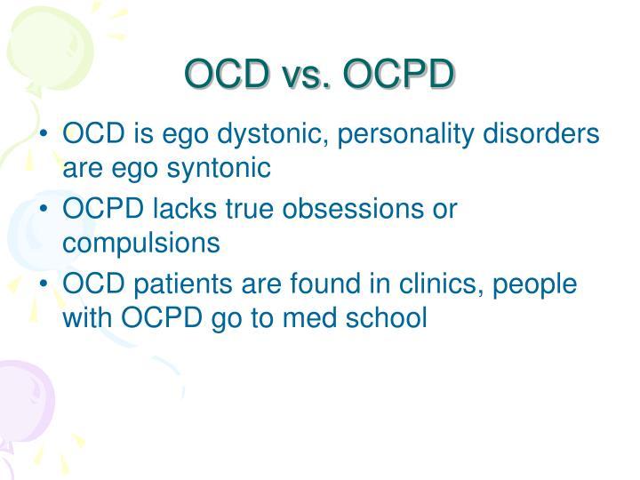 OCD vs. OCPD