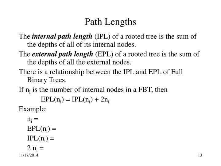 Path Lengths