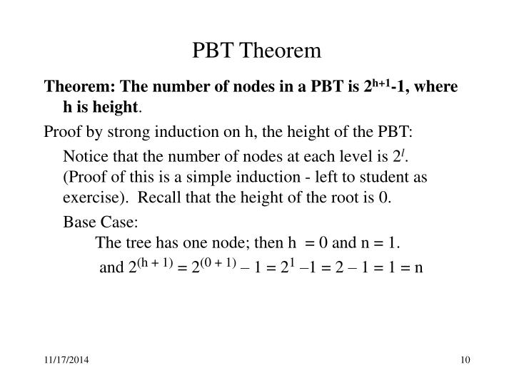 PBT Theorem