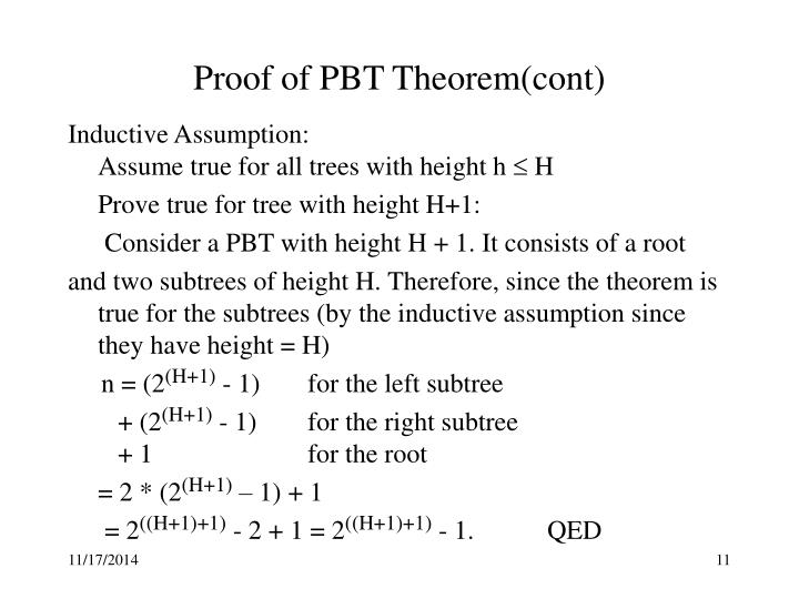 Proof of PBT Theorem(cont)