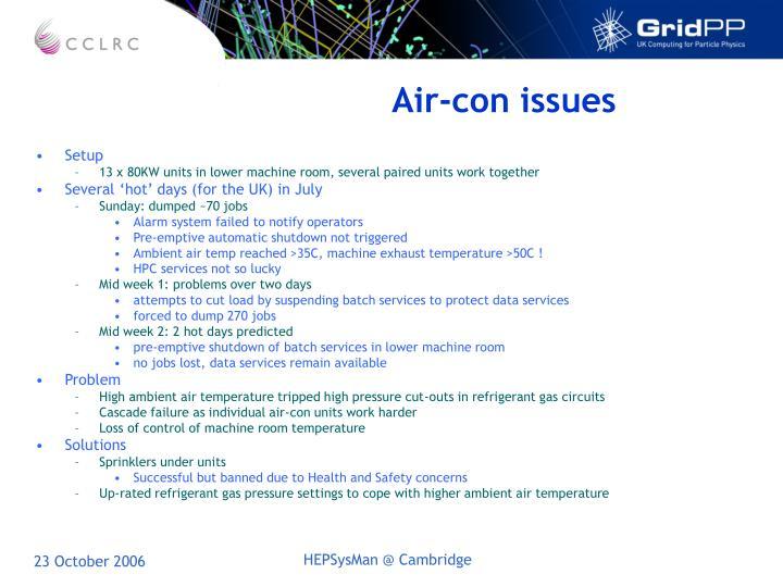 Air-con issues