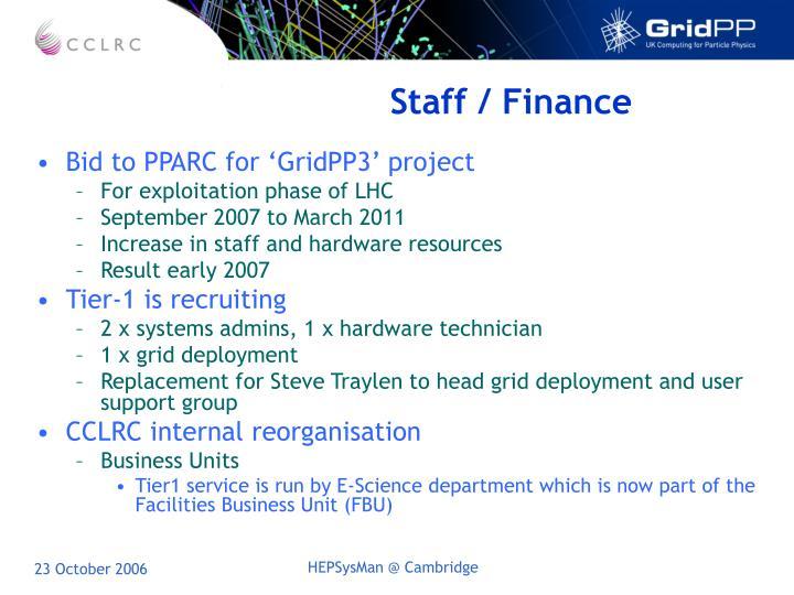 Staff / Finance