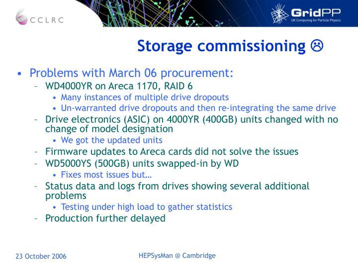 Storage commissioning