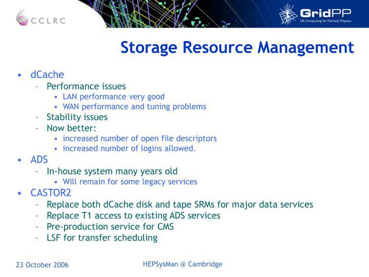 Storage Resource Management