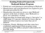 existing federal framework medicaid rebate program