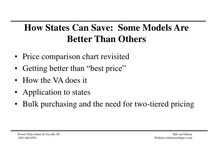 How States Can Save:  Some Models Are Better Than Others