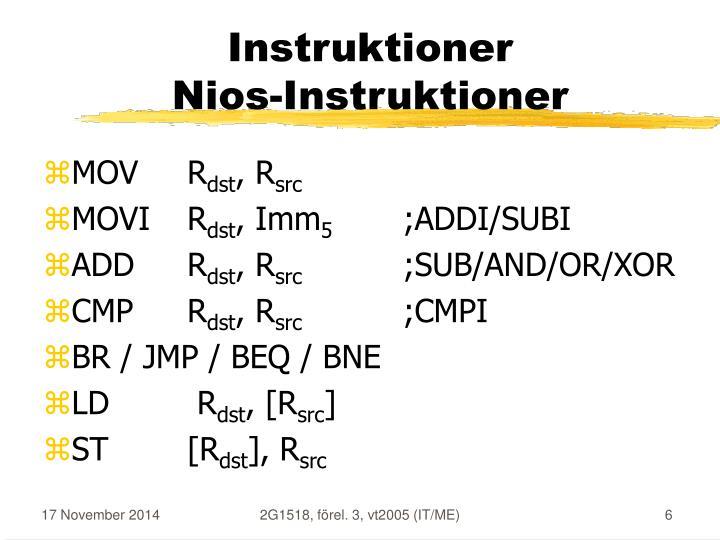 Instruktioner
