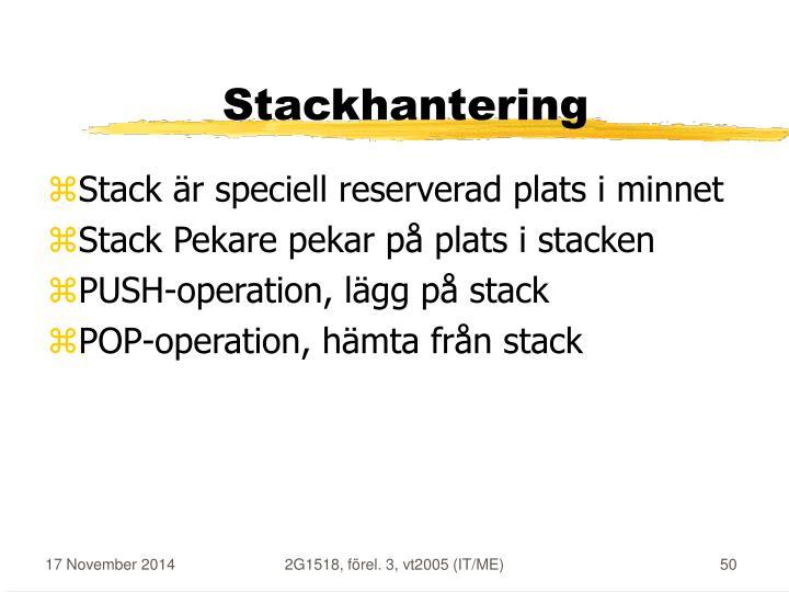 Stackhantering