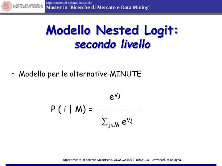 Modello Nested Logit: