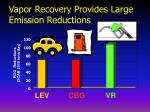 vapor recovery provides large emission reductions