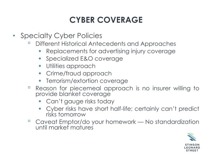 Cyber coverage
