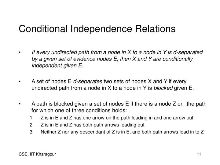 Conditional Independence Relations