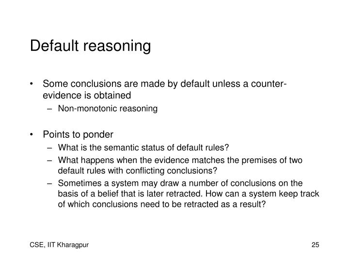 Default reasoning