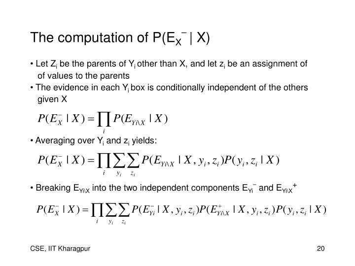 The computation of P(E