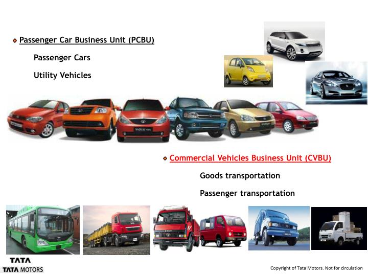 Product Range :  A Vehicle for Every Need