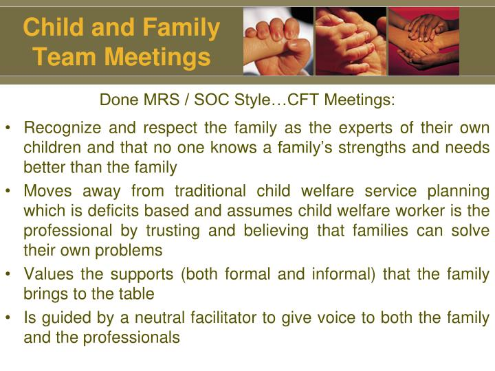 Child and Family Team Meetings