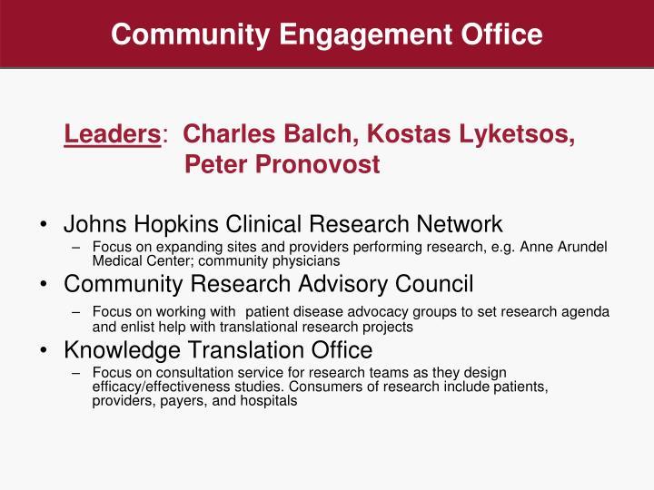 Community Engagement Office