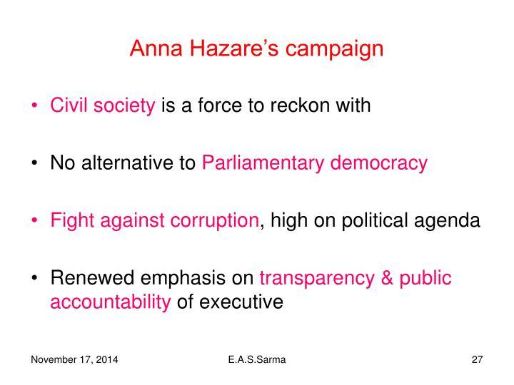 Anna Hazare's campaign