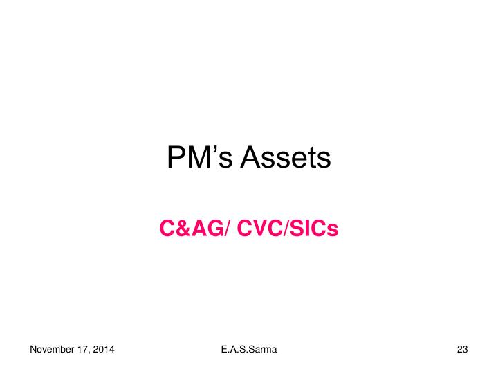 PM's Assets