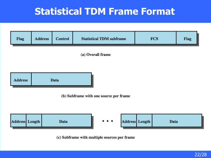 Statistical TDM Frame Format