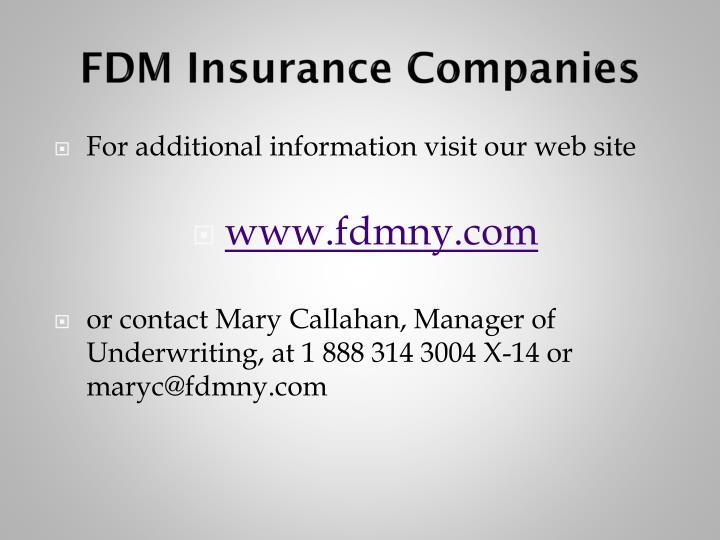 FDM Insurance Companies