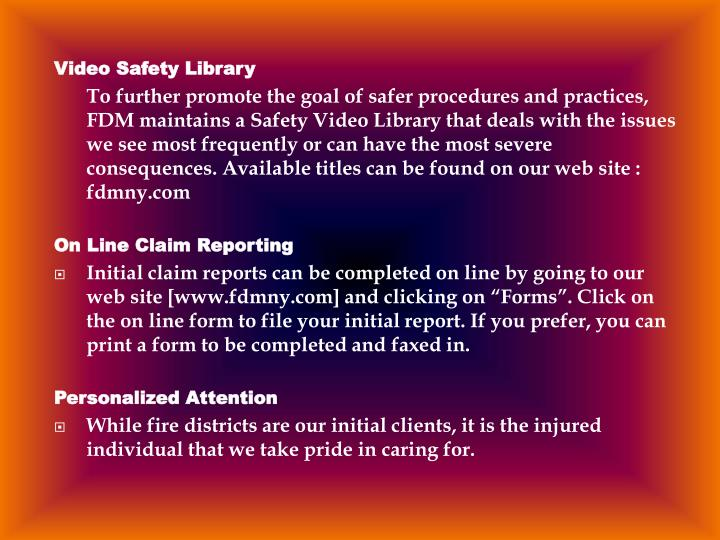 Video Safety Library