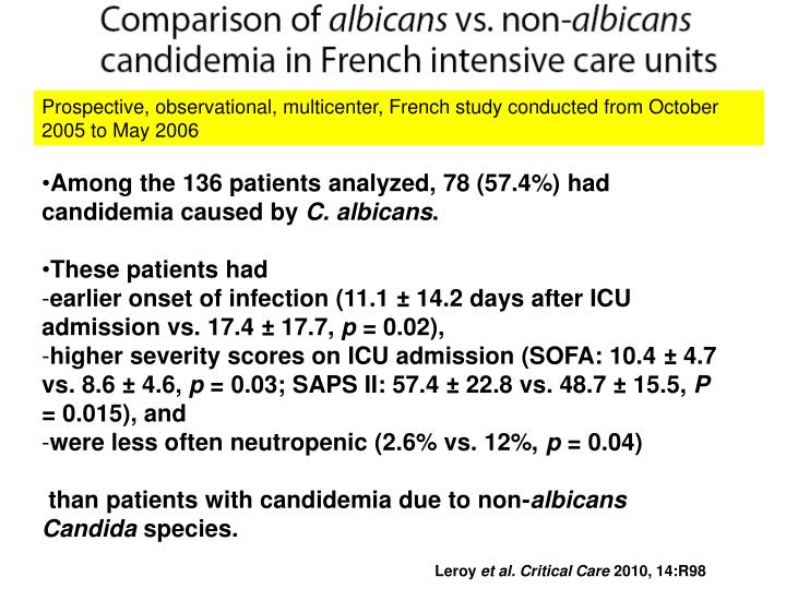 Prospective, observational, multicenter, French study conducted from October 2005 to May 2006