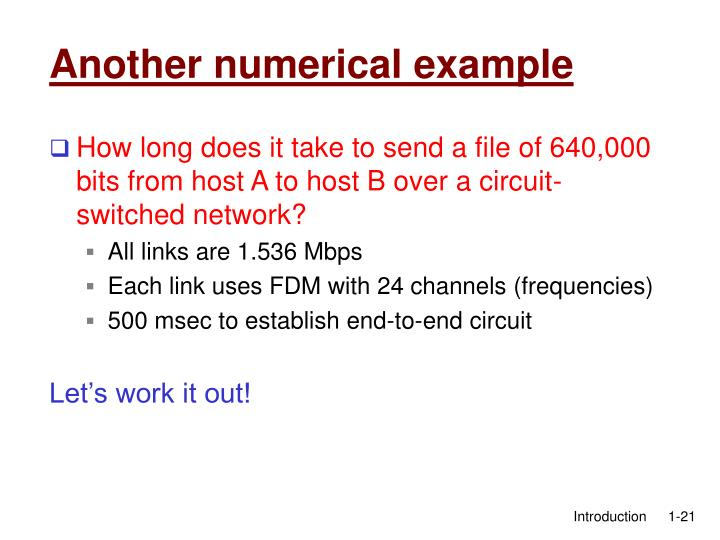 Another numerical example