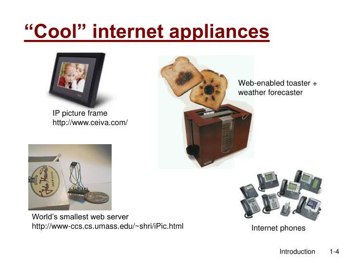 """""""Cool"""" internet appliances"""