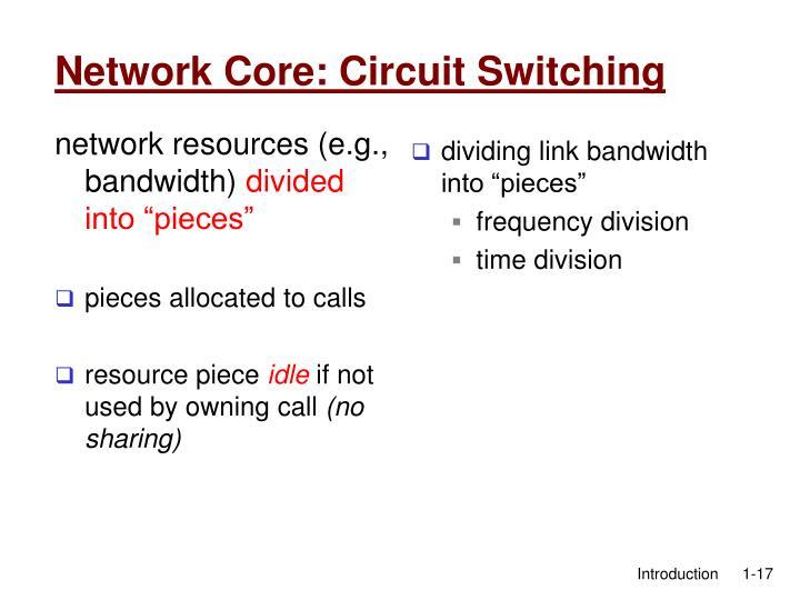 network resources (e.g., bandwidth)