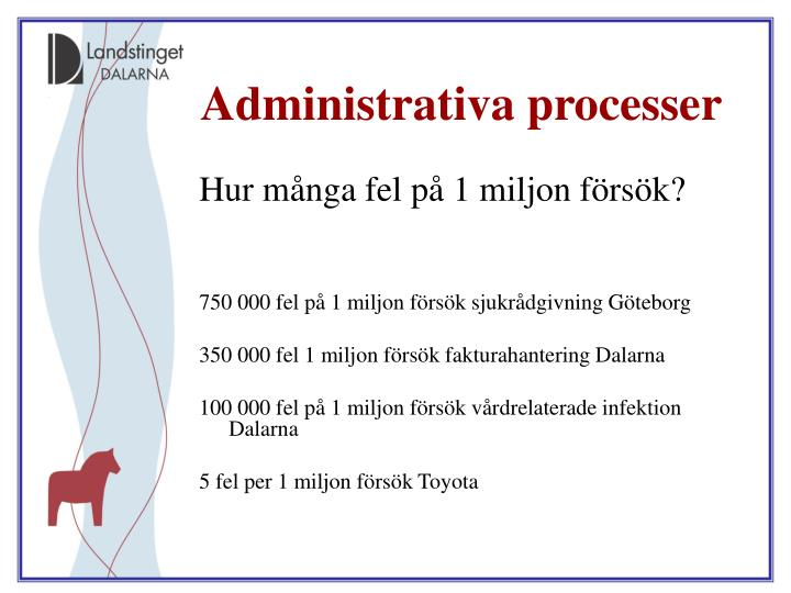 Administrativa processer