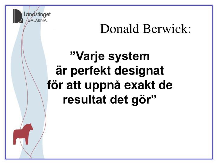 Donald Berwick: