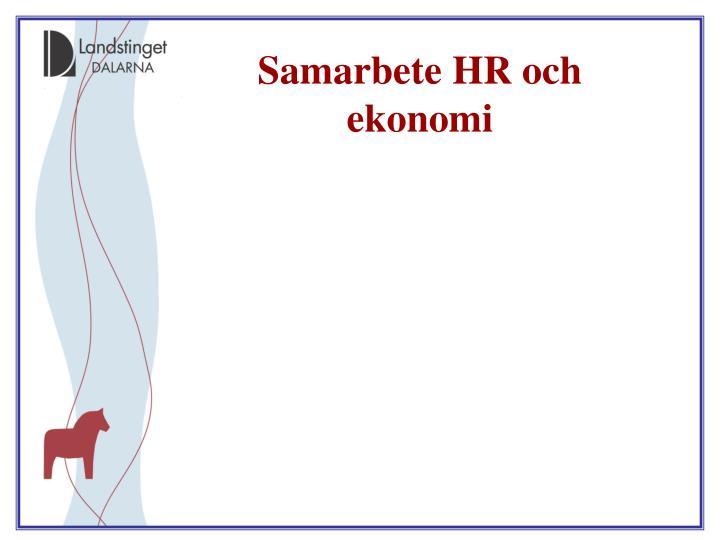 Samarbete HR och ekonomi