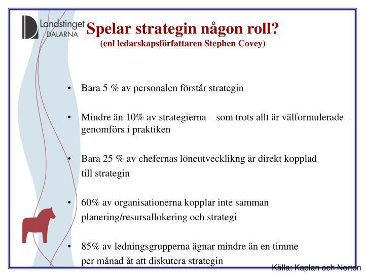 Spelar strategin någon roll?