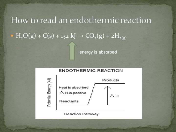 How to read an endothermic reaction