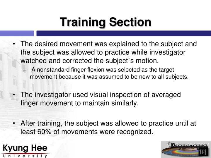 Training Section