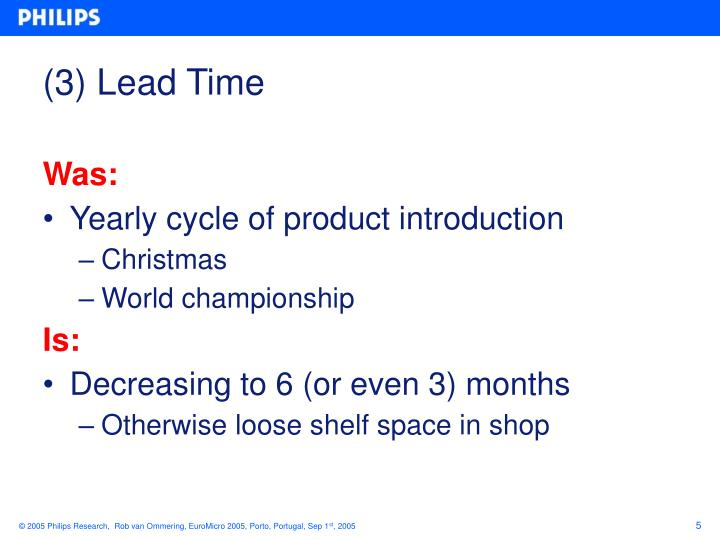 (3) Lead Time